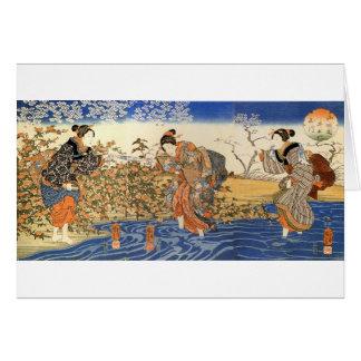 Three Japanese Women Card