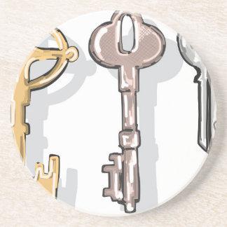 Three Keys Sketch Coaster