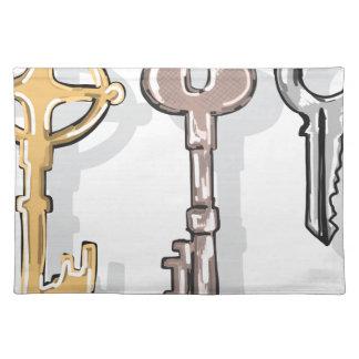 Three Keys Sketch Placemat