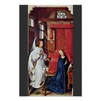 Three King Altar Left Wing: The Annunciation Poster