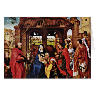 Three King Altar, Middle Panel: Adoration Greeting Card