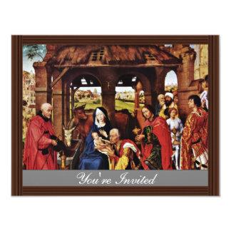 Three King Altar, Middle Panel: Adoration Custom Invitation