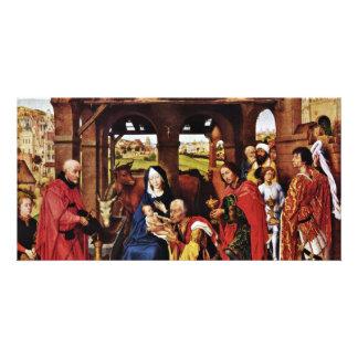 Three King Altar, Middle Panel: Adoration Customised Photo Card