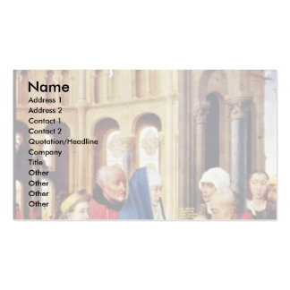 Three King Altar Right Wing: The Presentation In Pack Of Standard Business Cards