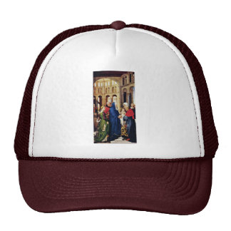 Three King Altar Right Wing: The Presentation In Hats