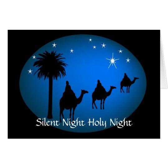 Three Kings Bethlehem  Star Christian Christmas Card