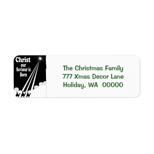 Three Kings Christmas Card Return Address Stickers