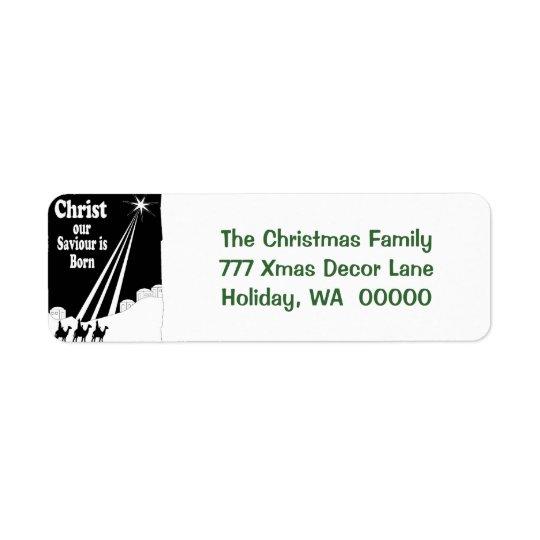 Three Kings Christmas Card Return Address Stickers Return Address Label