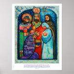 Three Kings Christmas Poster, Matthew 2:11 verse Poster