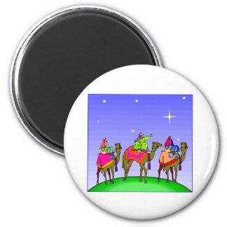 Three Kings Follow Star 6 Cm Round Magnet