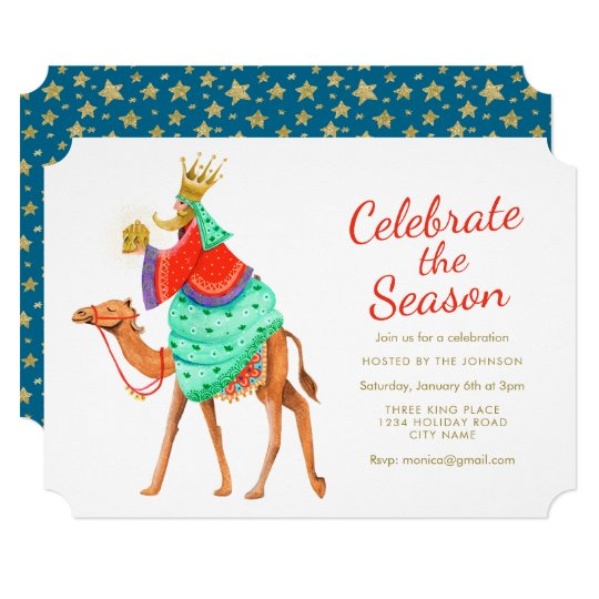 Three Kings | Season | Gold Glitter | Invitations