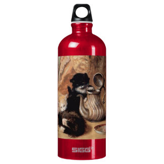Three Kittens Playing Tea Time Antique painting SIGG Traveller 1.0L Water Bottle
