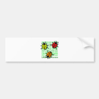Three Ladybirds Bumper Sticker