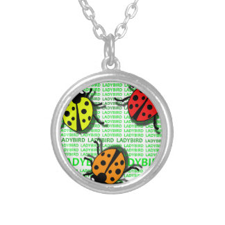 Three Ladybirds Silver Plated Necklace