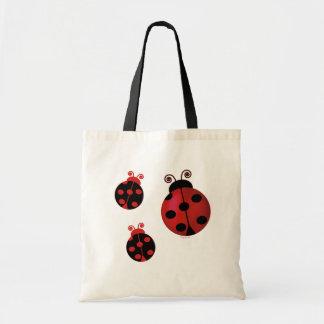 Three Ladybugs Budget Tote Bag