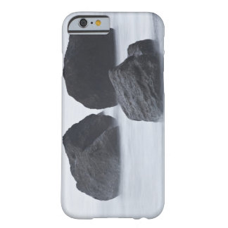 Three large boulders on Ruby Beach, Olympic Barely There iPhone 6 Case