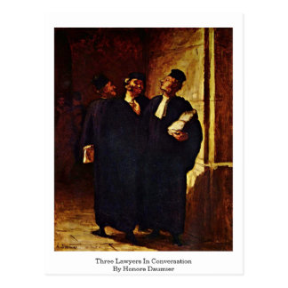 Three Lawyers In Conversation By Honore Daumier Postcard