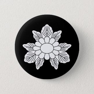 Three leaf asters 6 cm round badge