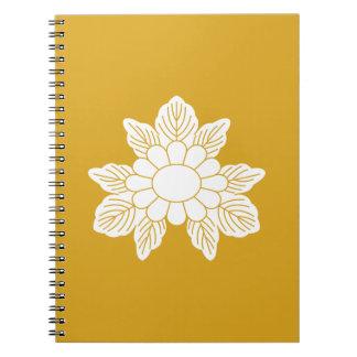 Three leaf asters spiral notebook
