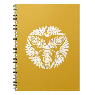Three leaf chrysanthemums notebooks