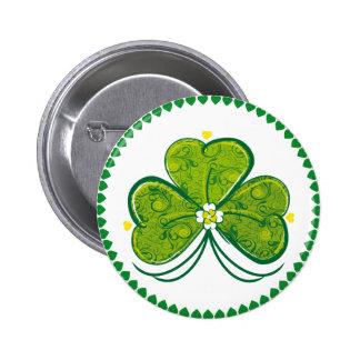 Three Leaf Clover - button