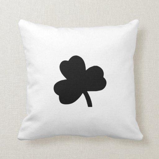 Three-Leaf Clover Throw Pillows