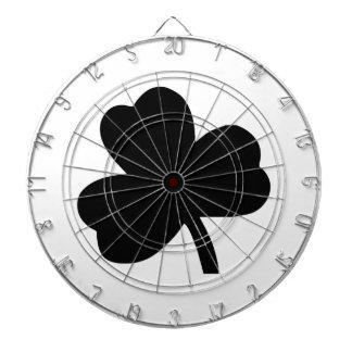 Three-Leaf Clover Dartboard With Darts
