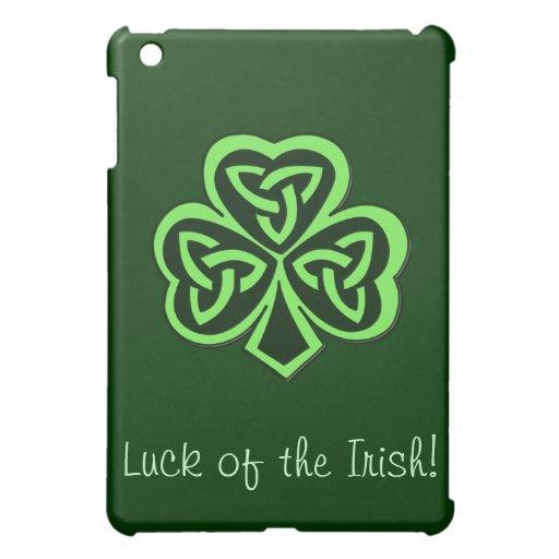 Three Leaf Clover Gaelic Design iPad Case