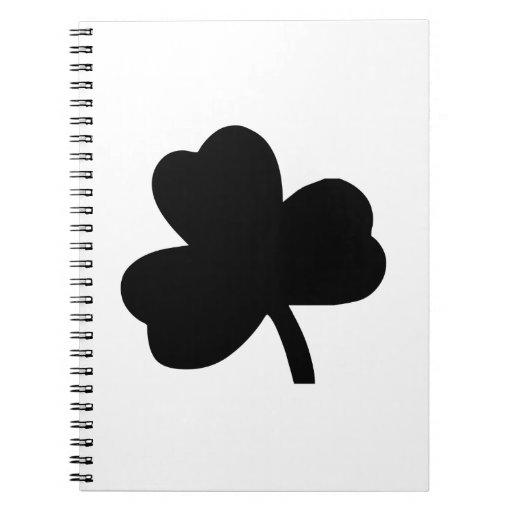 Three-Leaf Clover Spiral Notebook