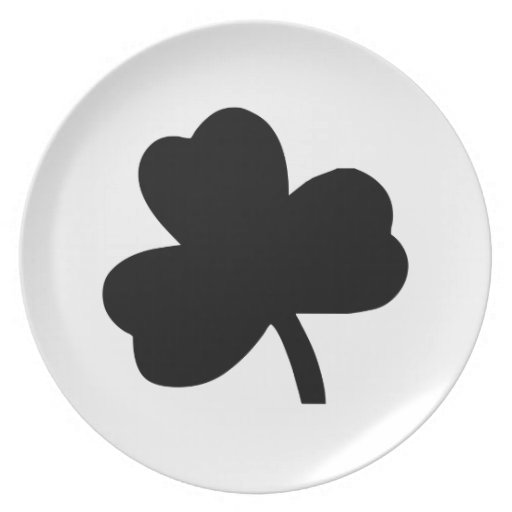 Three-Leaf Clover Party Plates