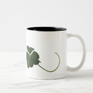 Three-leaf clover Two-Tone coffee mug