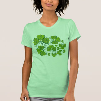 Three Leaf Clover - Woman top Tee Shirts