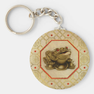 Three Legged Lucky Money Frog /Toad Feng-shui Key Ring