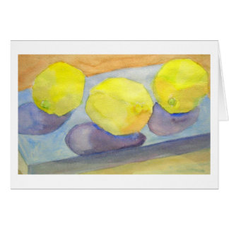 Three Lemons Card
