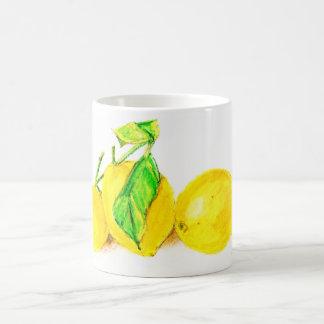 three lemons coffee mugs