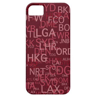 Three-Letter Airport Codes Red Case For The iPhone 5