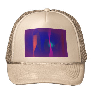 Three Lines Abstract Composition with Shading Trucker Hats