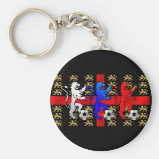 Three Lions football players car keyring Basic Round Button Key Ring