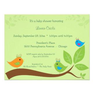 Three Little Birds Baby Shower Invitation