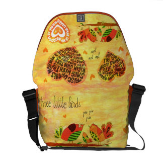 Three Little Birds - song Courier Bags