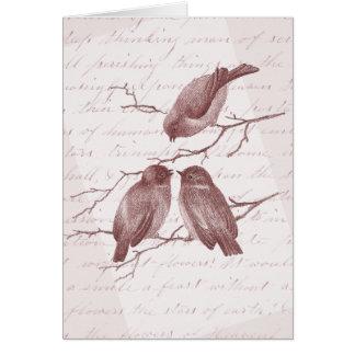 Three Little Birds Vintage Thank You Notes