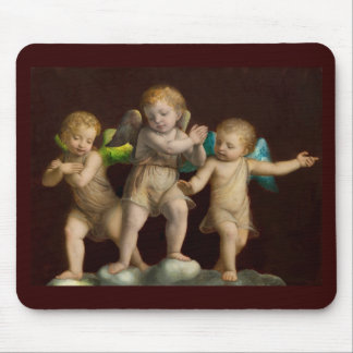 Three Little Cherubs or Angels Mouse Pad