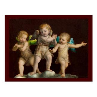 Three Little Cherubs or Angels Postcard