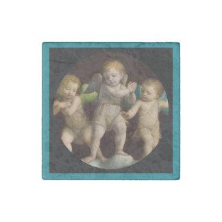 Three Little Cherubs or Angels Stone Magnet