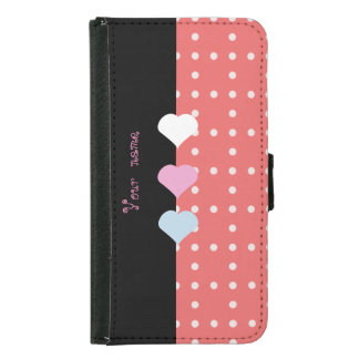Three Little Hearts Samsung Galaxy S5 Wallet Case