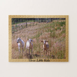Three Little Kids Jigsaw Puzzle