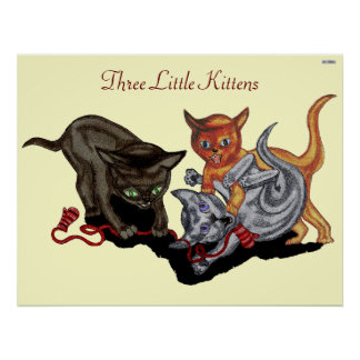 Three Little Kittens Poster