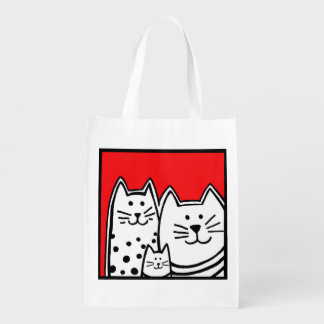 Three Little Kitties Reusable Bag