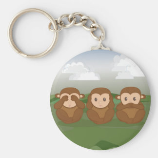 Three Little Monkeys Key Ring