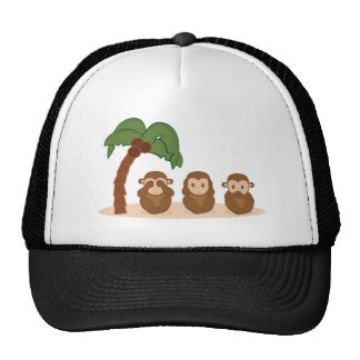 Three little monkeys - three macaquinhos cap